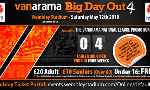 Vanarama Big Day Out – Early Bird Week