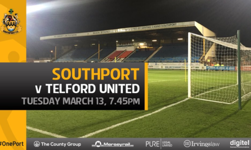MATCHDAY LIVE | Southport V AFC Telford United