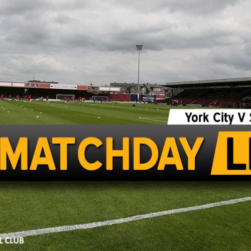 MATCHDAY LIVE | York City V Southport