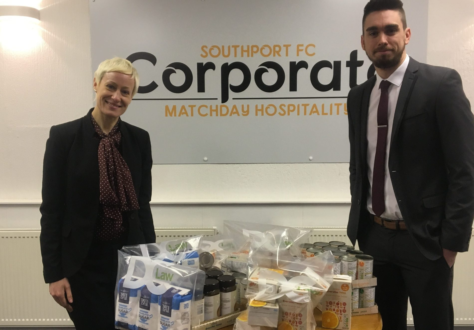 DC Law Make Southport Foodbank Donation