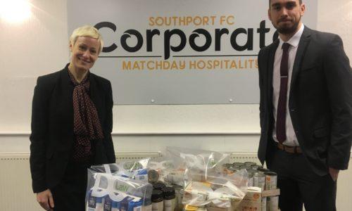 DC Law Make Southport Foodbank Donation