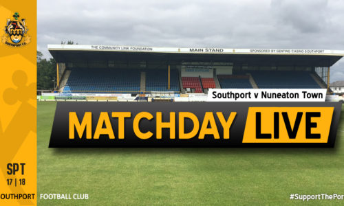 MATCHDAY LIVE | Southport V Nuneaton Town