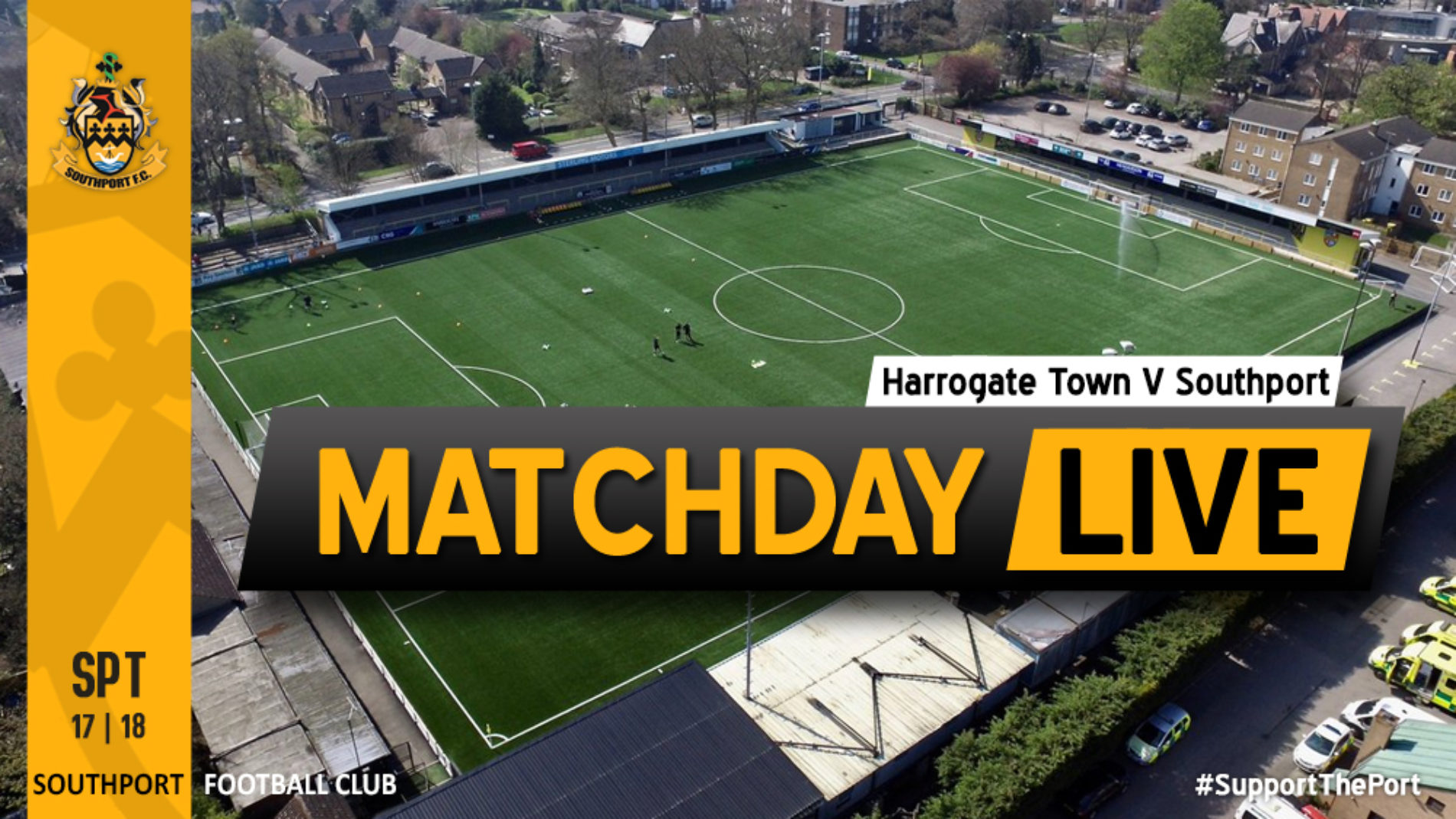 MATCHDAY LIVE | Harrogate Town V Southport