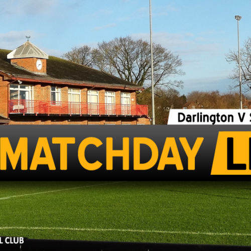 MATCHDAY LIVE | Darlington V Southport