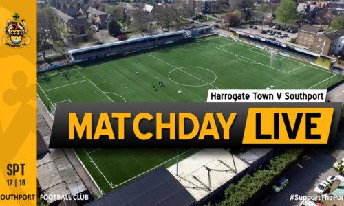 MATCHDAY LIVE | Harrogate Town V Southport