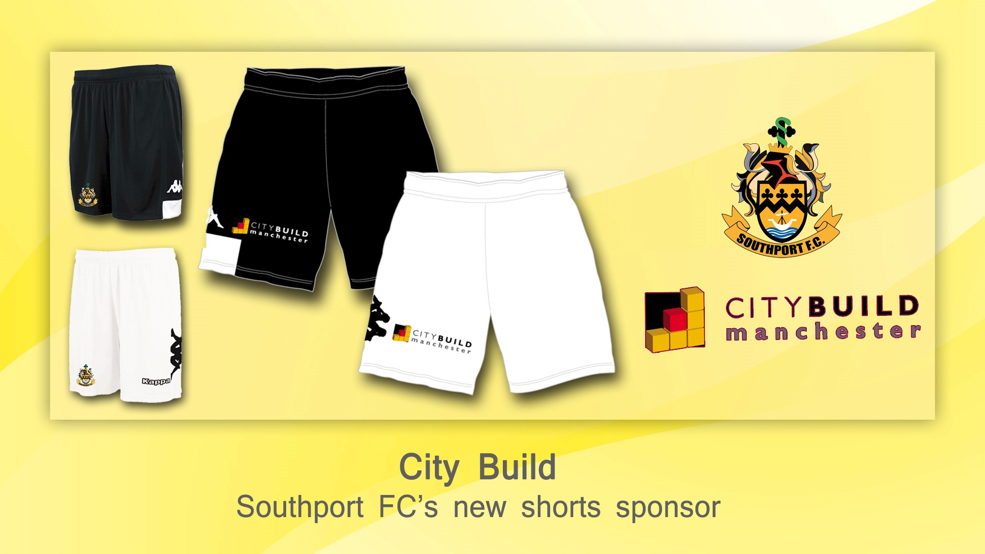 Southport FC are today delighted to unveil our new back of shorts sponsor for the 2018/19 season.        We would like to welcome City Build to the club as our newest commercial partner. City Build are a construction company who are currently working on the redevelopment of the main stand at the...