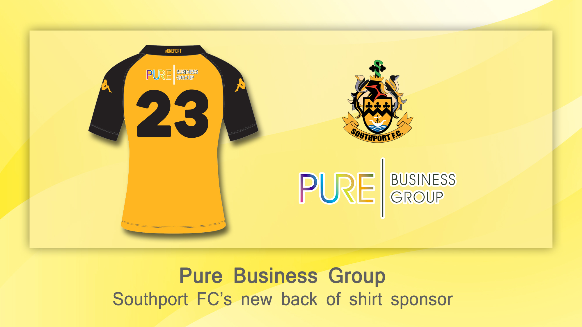 The club is delighted to confirm that PURE Business Group Limited will become the back of shirt sponsor for the 2018/19 season.        PURE Business Group is a cutting-edge legal services business, which provides a huge array of services to the legal industry and general public as a whole, both...