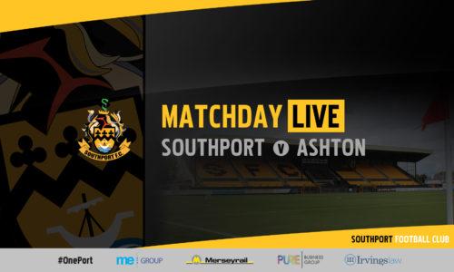 MATCHDAY LIVE | Southport v Ashton United