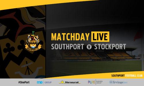 MATCHDAY LIVE | Southport v Stockport County