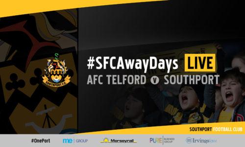 #SFCAwayDays LIVE | AFC Telford v Southport