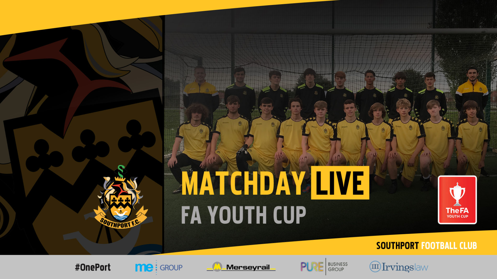 MATCHDAY LIVE | Marine v Southport – FA Youth Cup