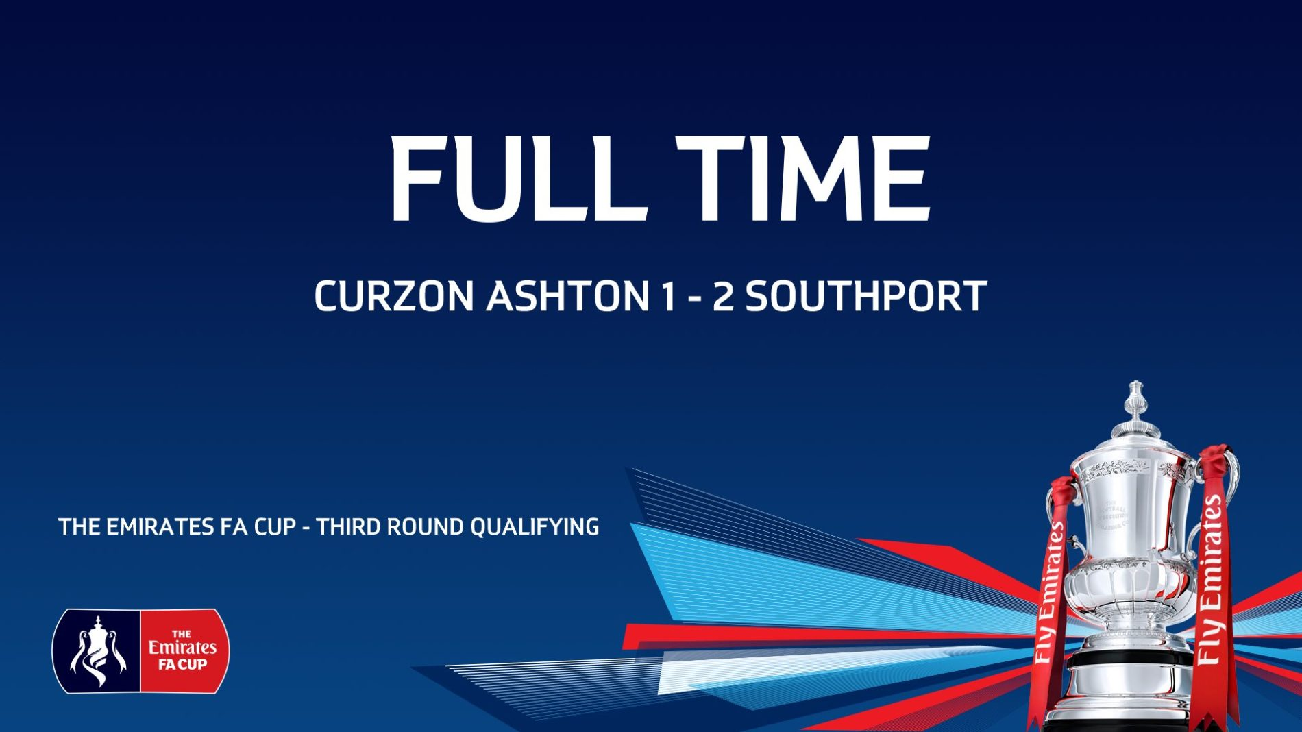 MATCH REPORT | Curzon Ashton 1-2 Southport – FA Cup