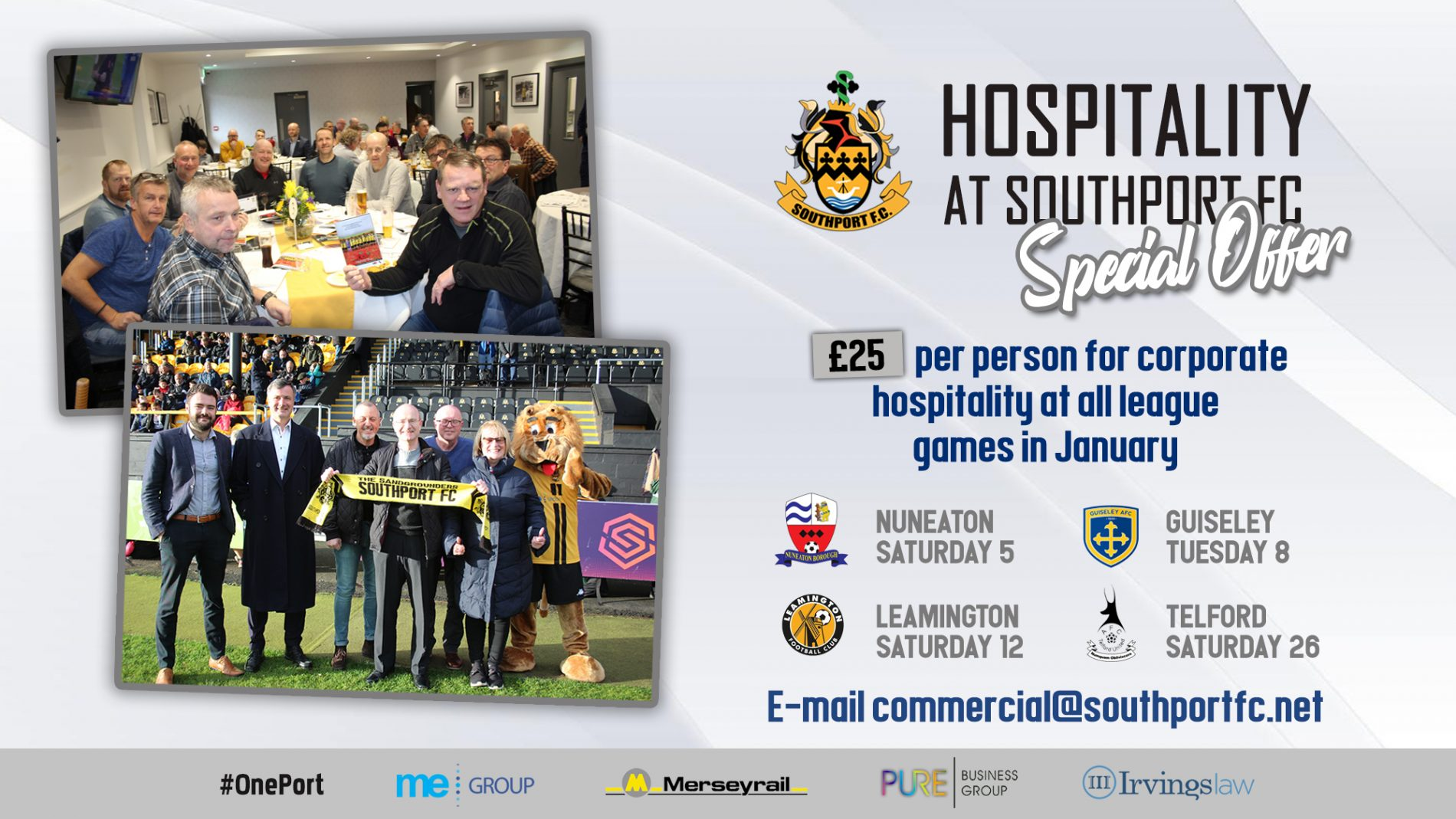 OFFER | Match-day Corporate Hospitality
