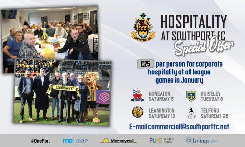 OFFER   Match-day Corporate Hospitality