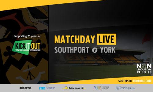 MATCHDAY LIVE | Southport v York City