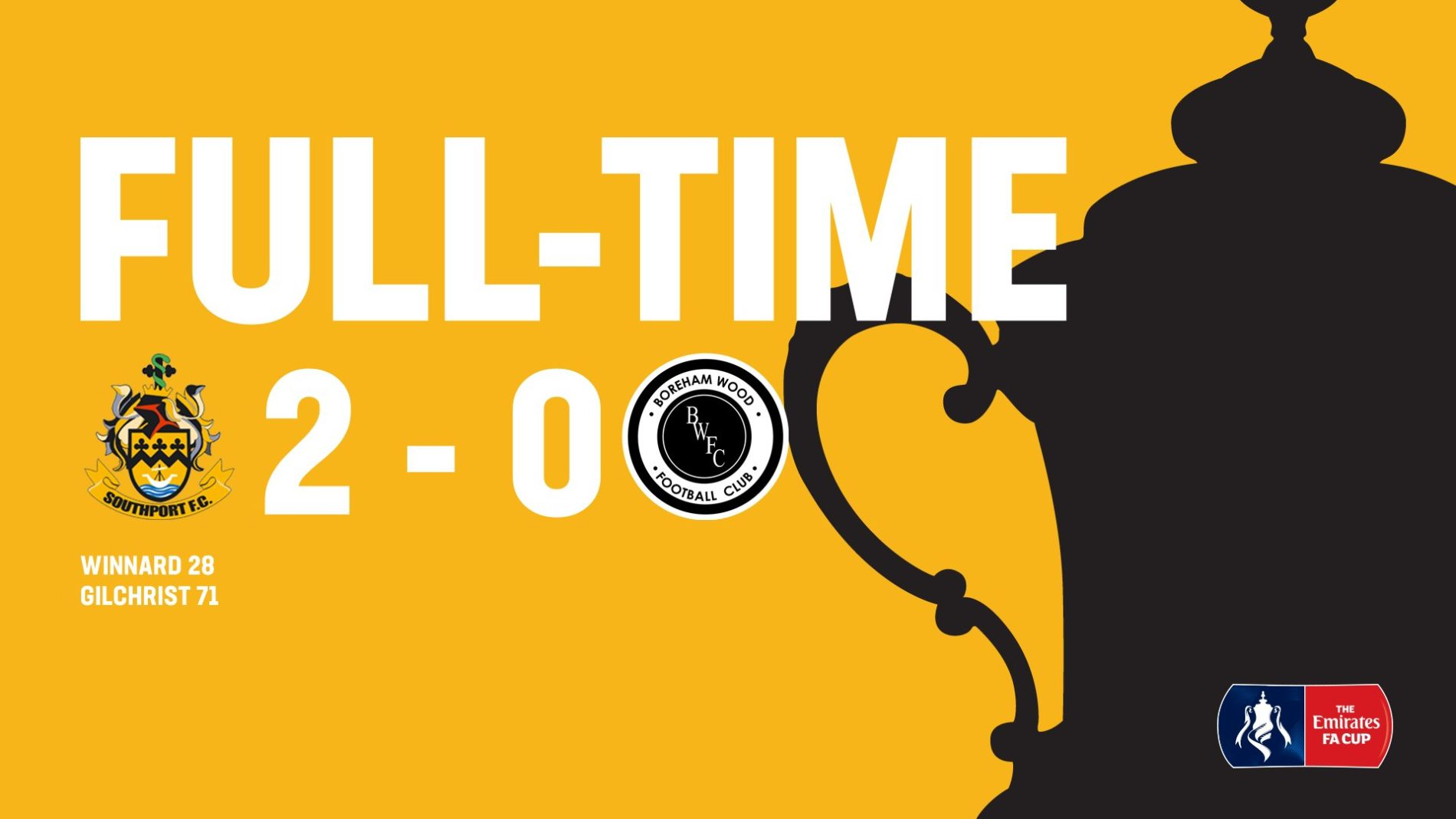 MATCH REPORT | Southport 2-0 Boreham Wood – FA Cup