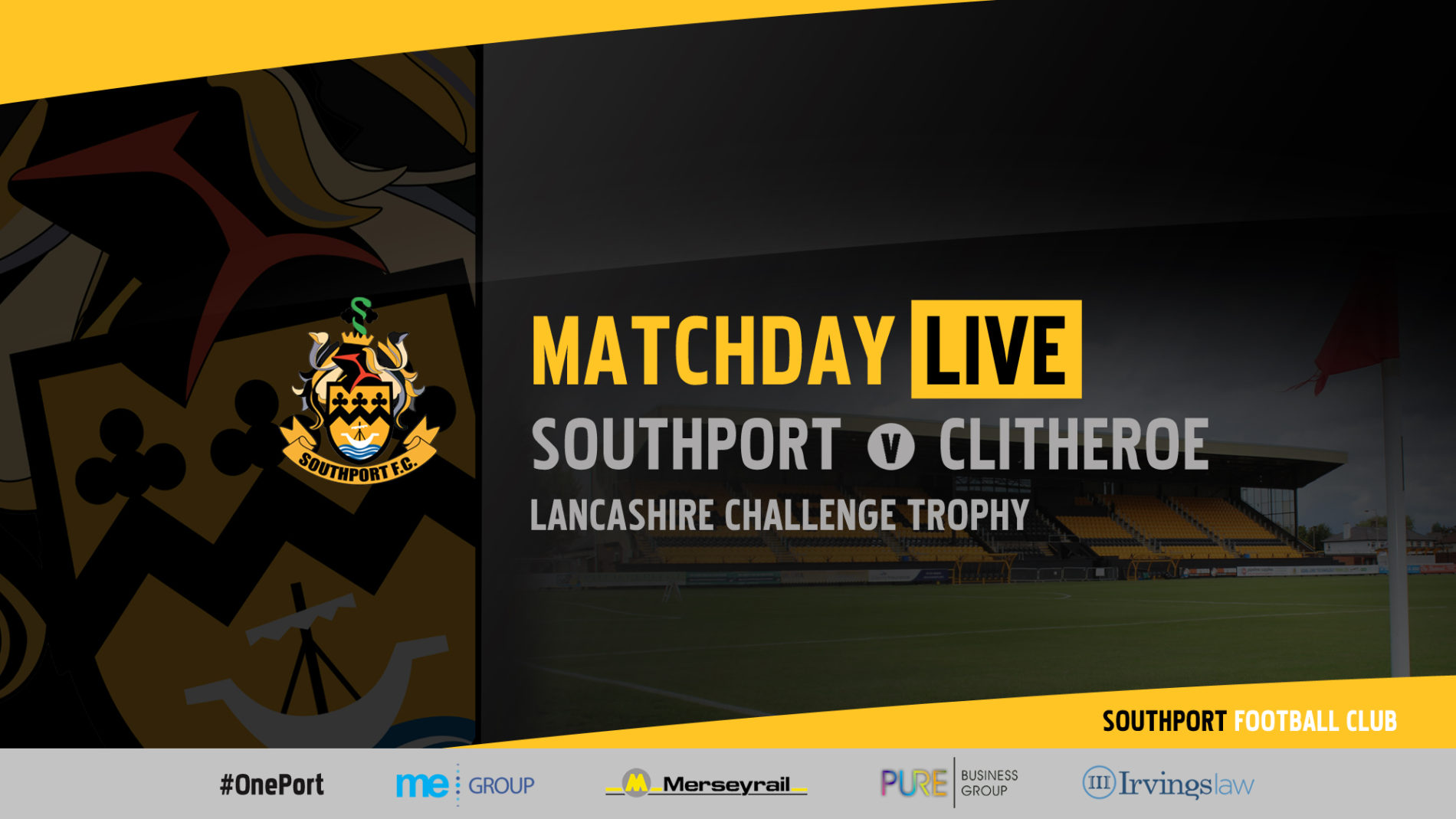 MATCHDAY LIVE   Southport v Clitheroe – Lancs Challenge Trophy