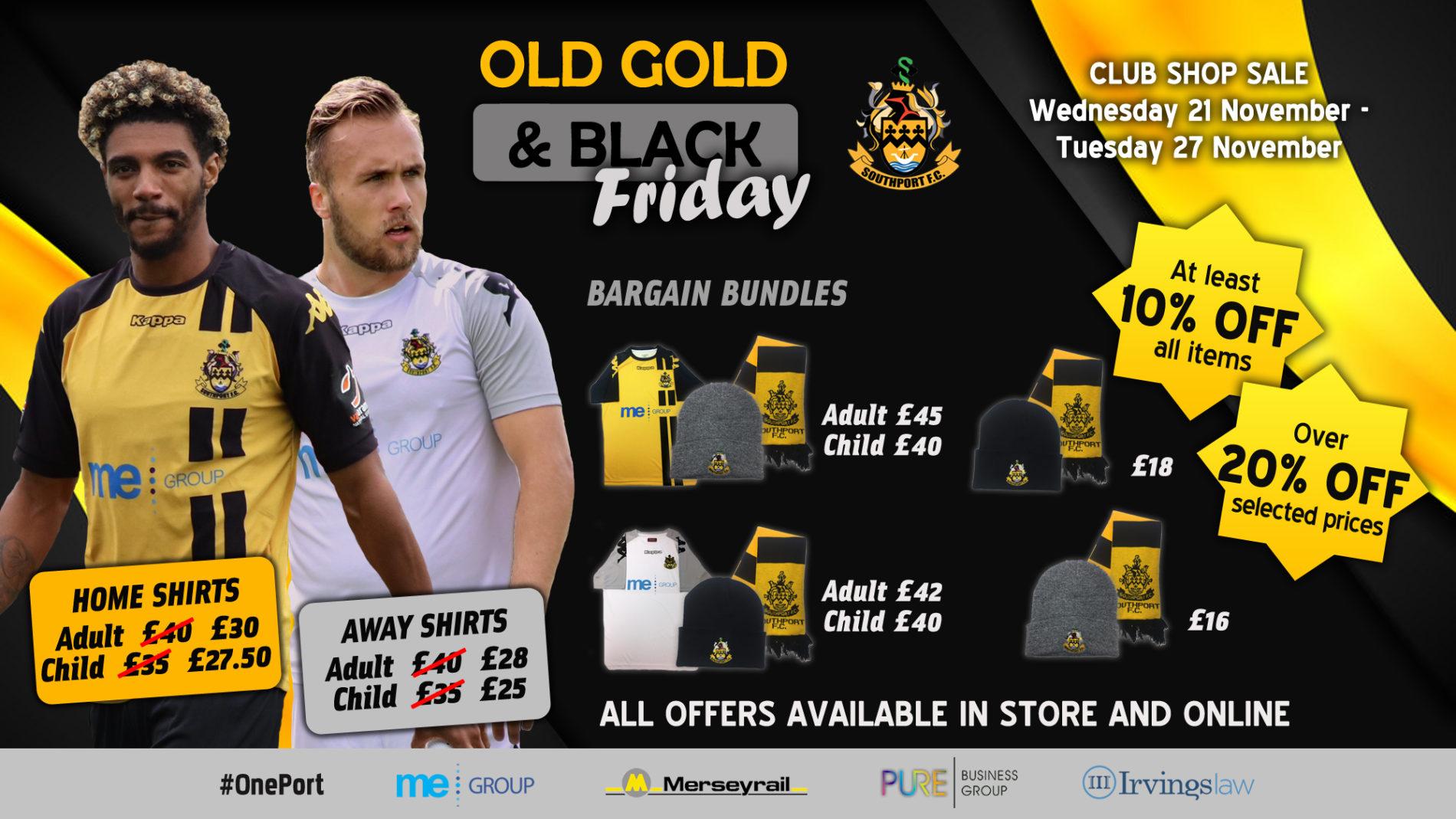SALE | Old Gold & Black 'Friday'