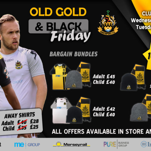 SALE | Old Gold & Black 'Friday'