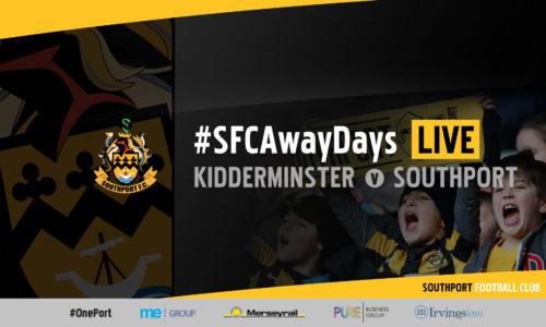 #SFCAwayDays LIVE | Kidderminster Harriers v Southport