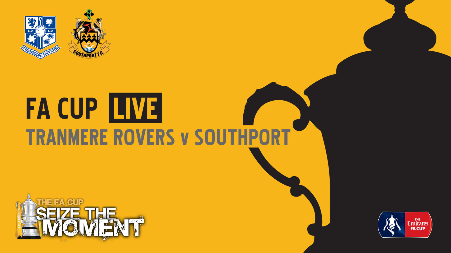 FA CUP LIVE | Tranmere Rovers v Southport