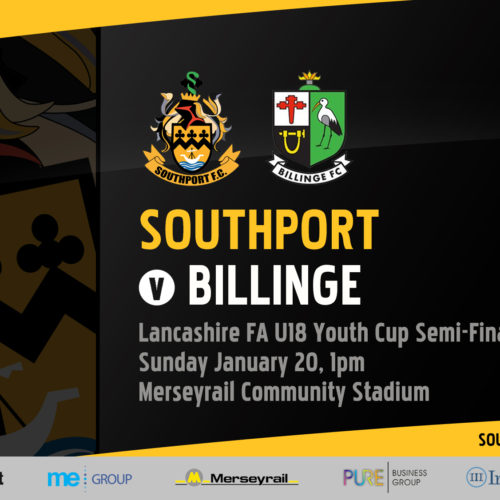 FIXTURE | U18s County Cup v Billinge
