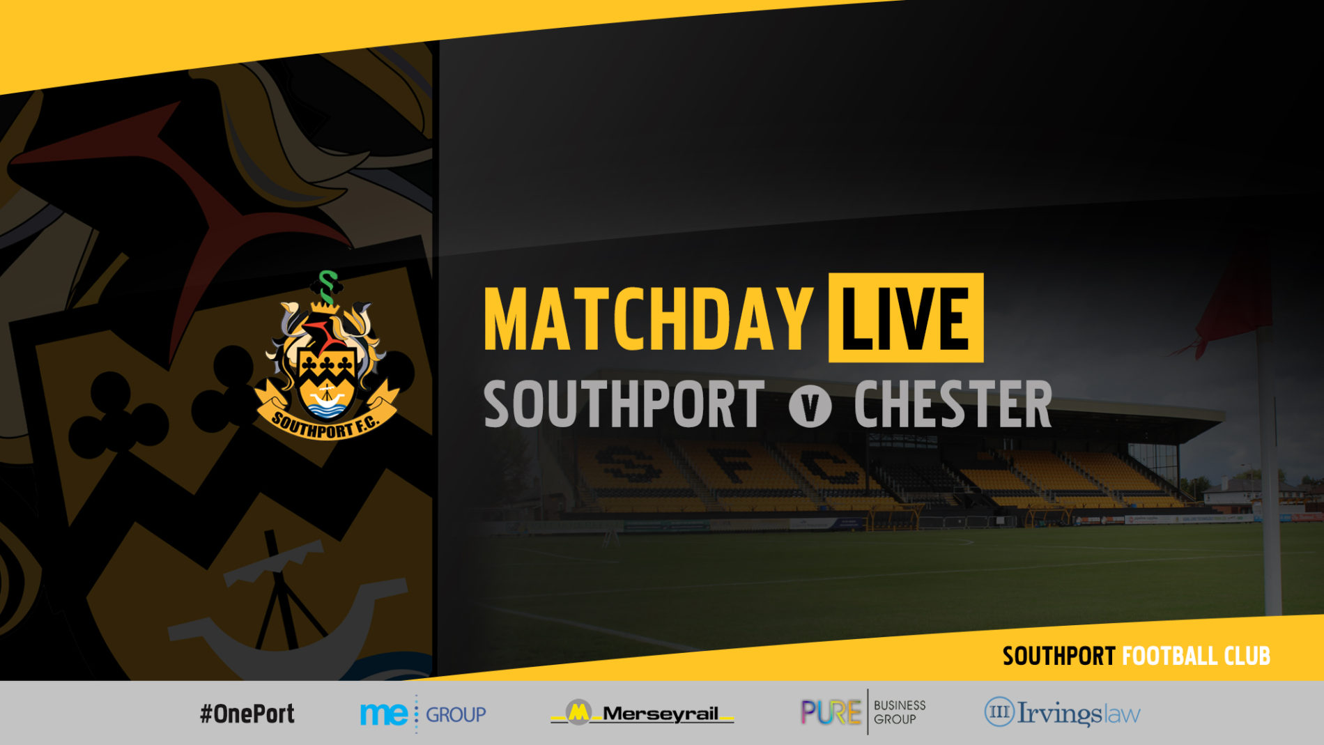 MATCHDAY LIVE | Southport v Chester