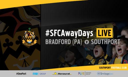 #SFCAwayDays LIVE | Bradford (Park Avenue) v Southport