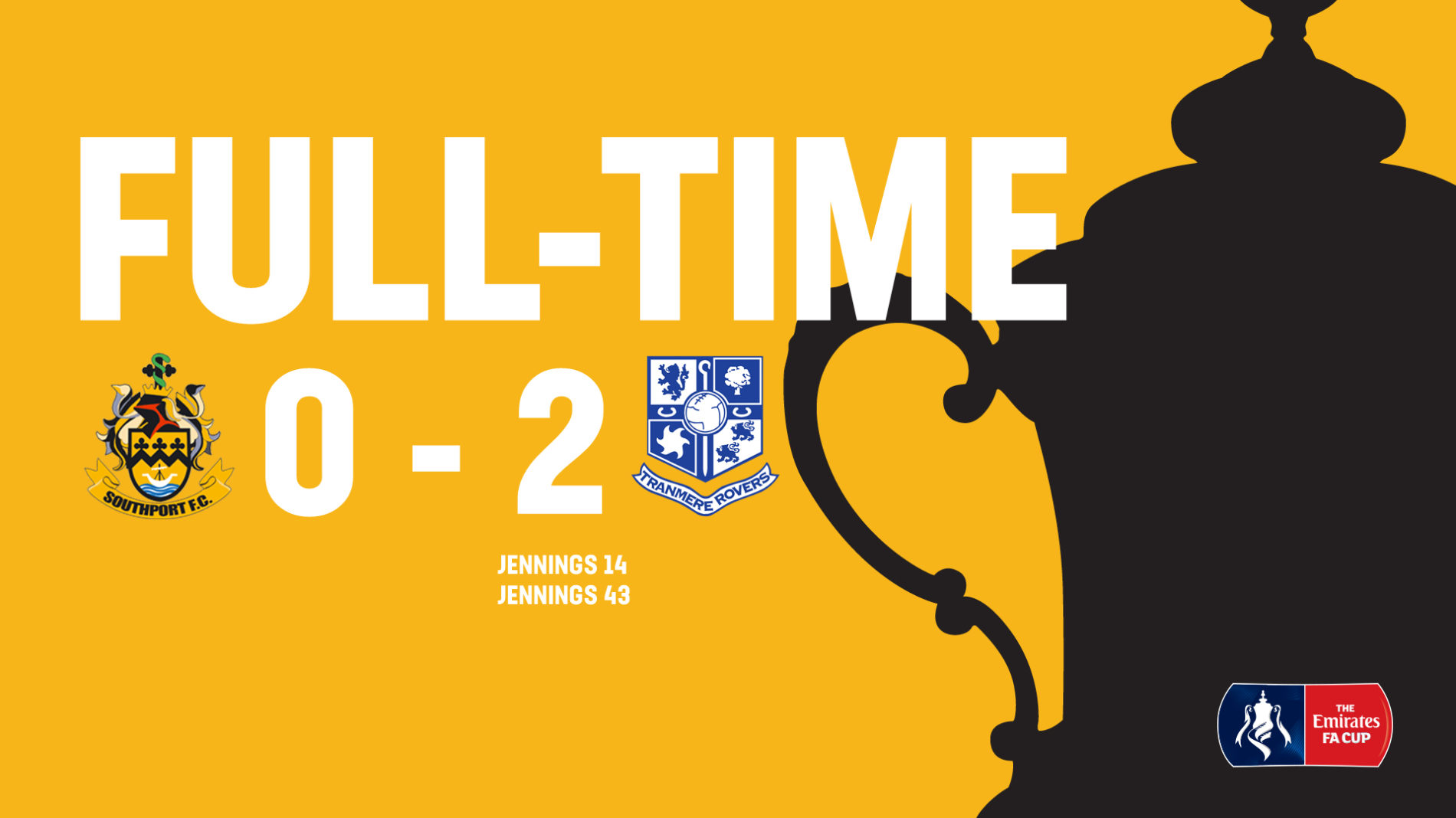 MATCH REPORT | Southport 0-2 Tranmere Rovers – FA Cup