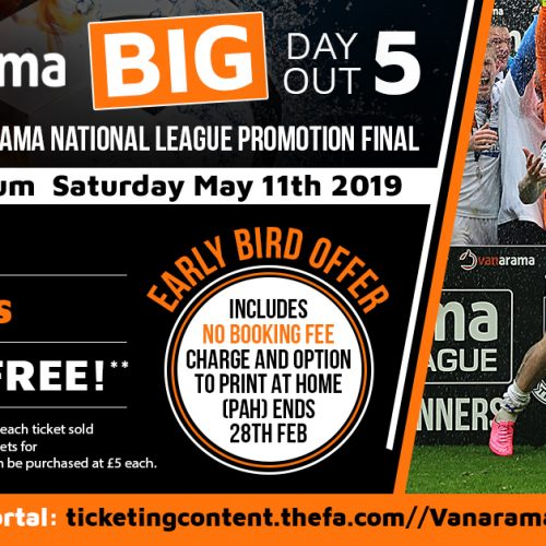 Big News: Vanarama Big Day Out Five Is Back With A Bang!