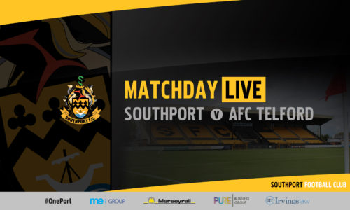 MATCHDAY LIVE | Southport vs AFC Telford United