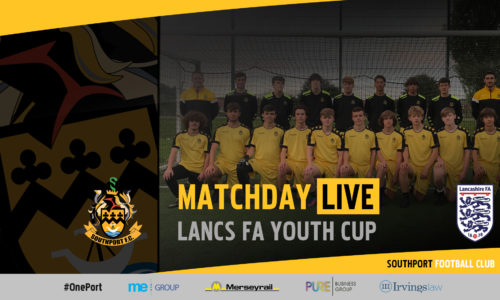 MATCHDAY LIVE | Southport v Billinge – Lancs Youth Cup