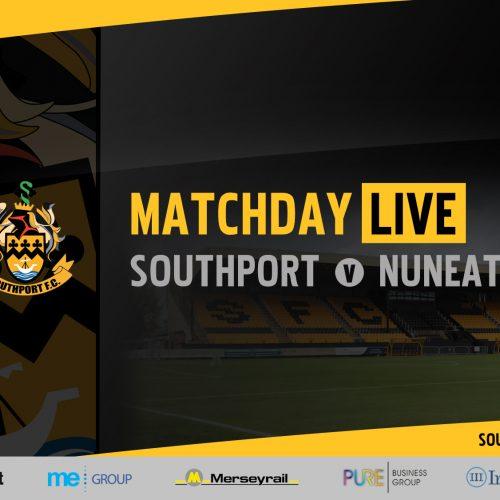 MATCHDAY LIVE | Southport v Nuneaton Borough