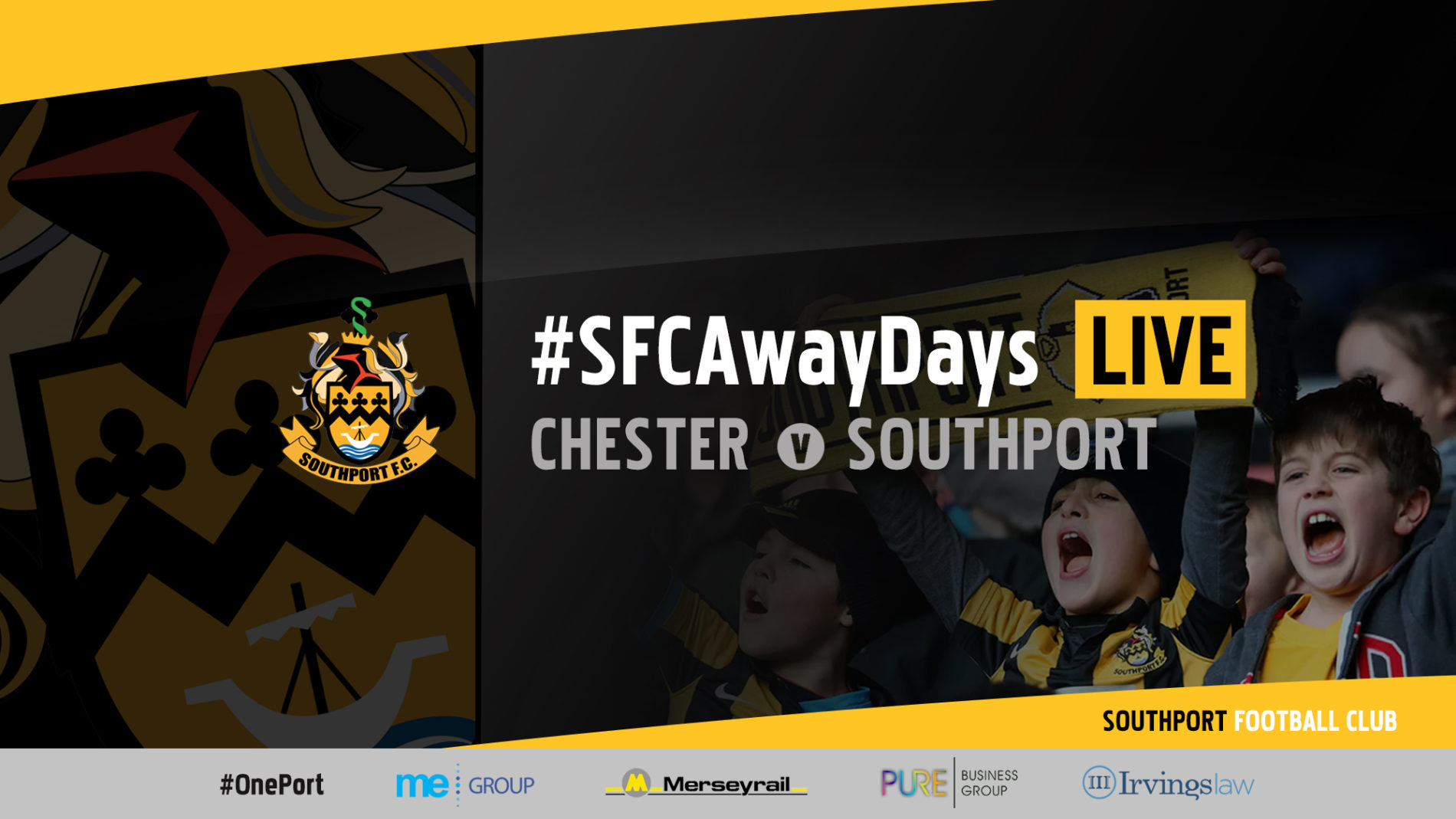 #SFCAwayDays LIVE | Chester v Southport
