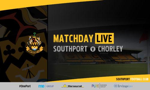 MATCHDAY LIVE | Southport v Chorley