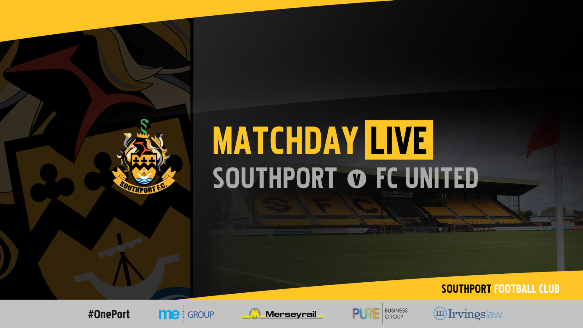 MATCHDAY LIVE | Southport vs FC United of Manchester