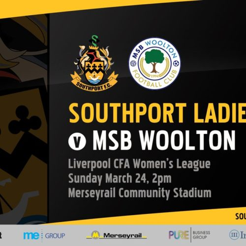 SOUTHPORT LADIES | March 24th