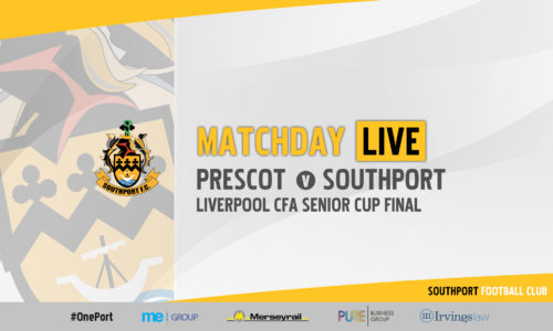 MATCHDAY LIVE | Prescot Cables v Southport – Liverpool Senior Cup Final
