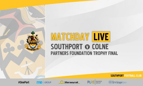 MATCHDAY LIVE | Southport v Colne – LFA Challenge Trophy Final