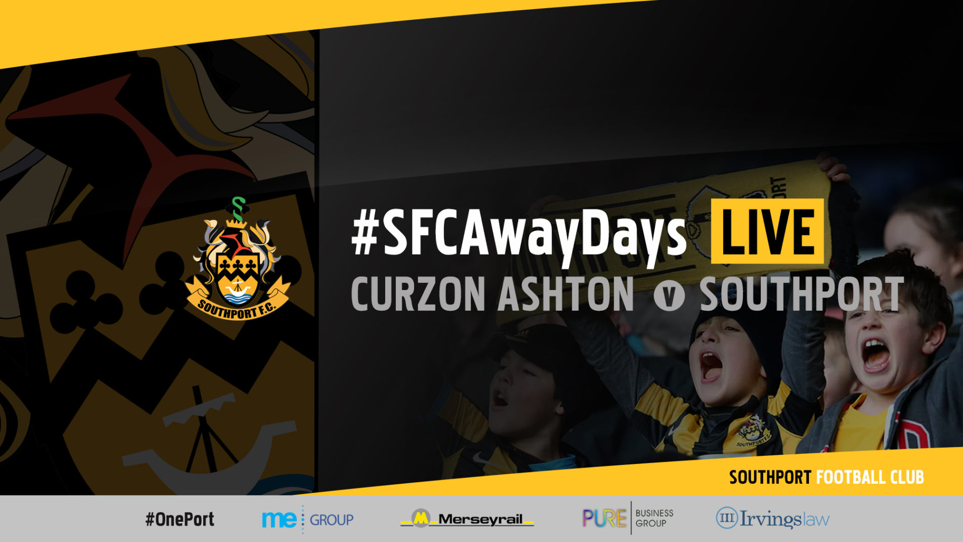 #SFCAwayDays LIVE | Curzon Ashton vs Southport