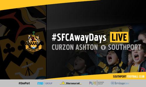 #SFCAwayDays LIVE | Curzon Ashton vs Southport