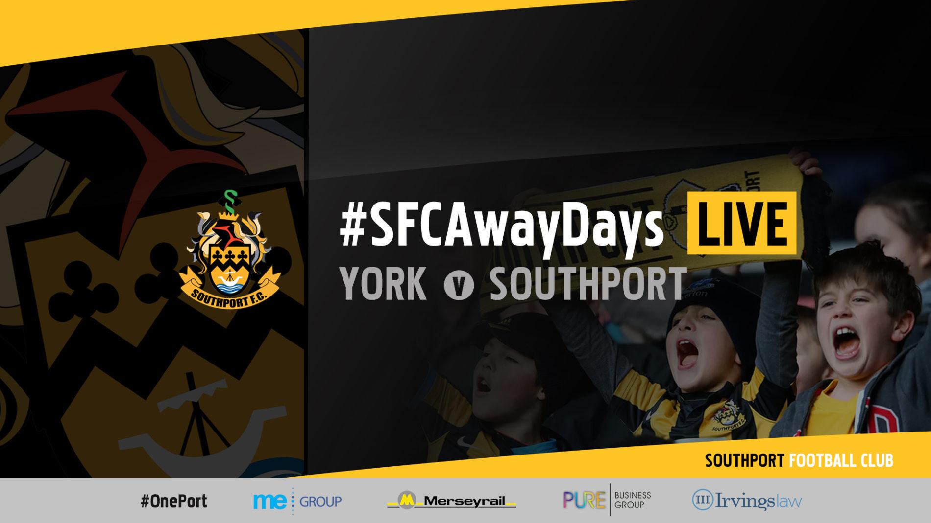 #SFCAwayDays LIVE | York City vs Southport