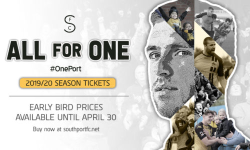 ALL FOR ONE   2019/20 Season Tickets