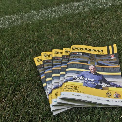 UPDATE | Matchday Programme