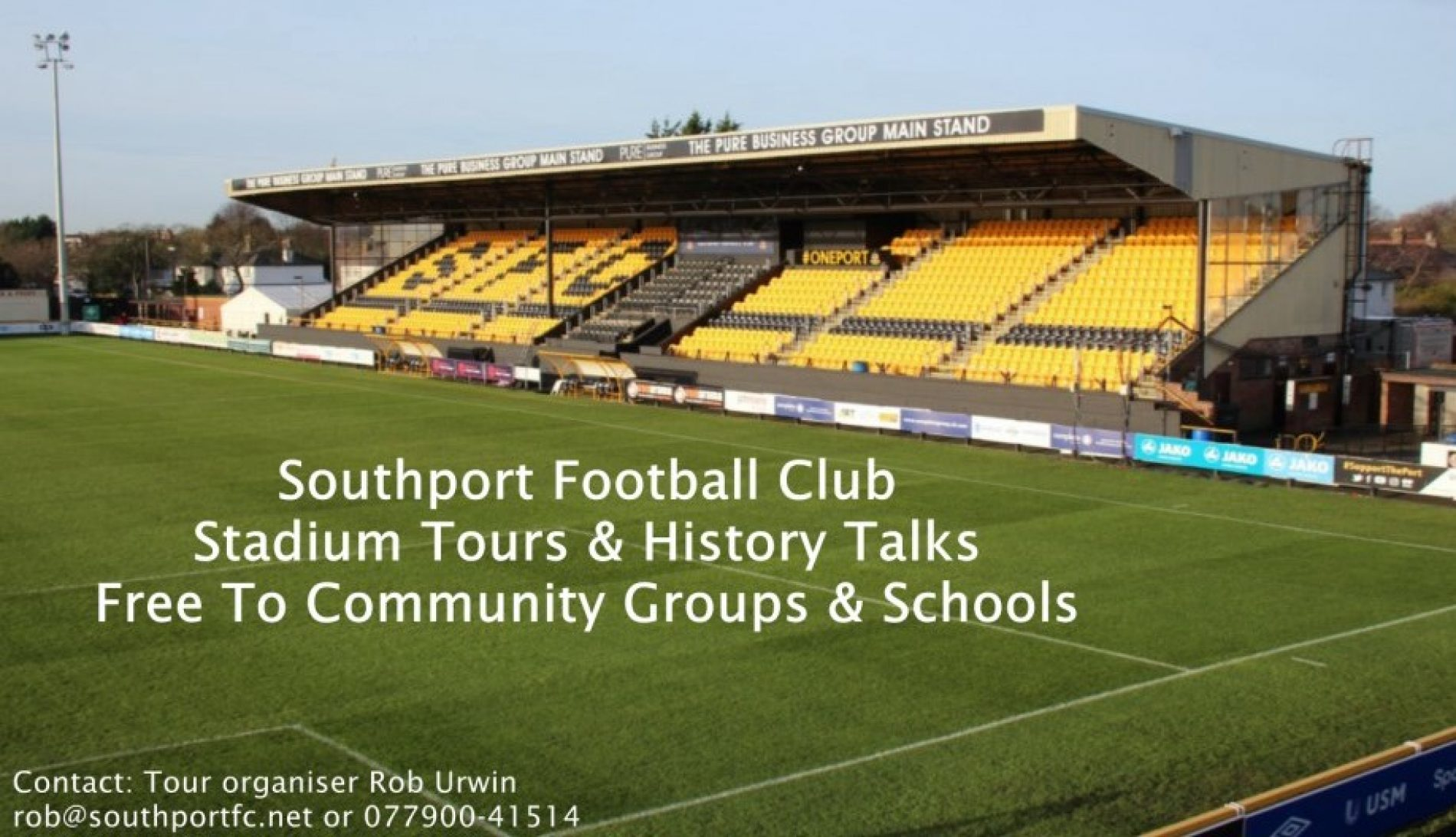 STADIUM TOURS | Now Booking