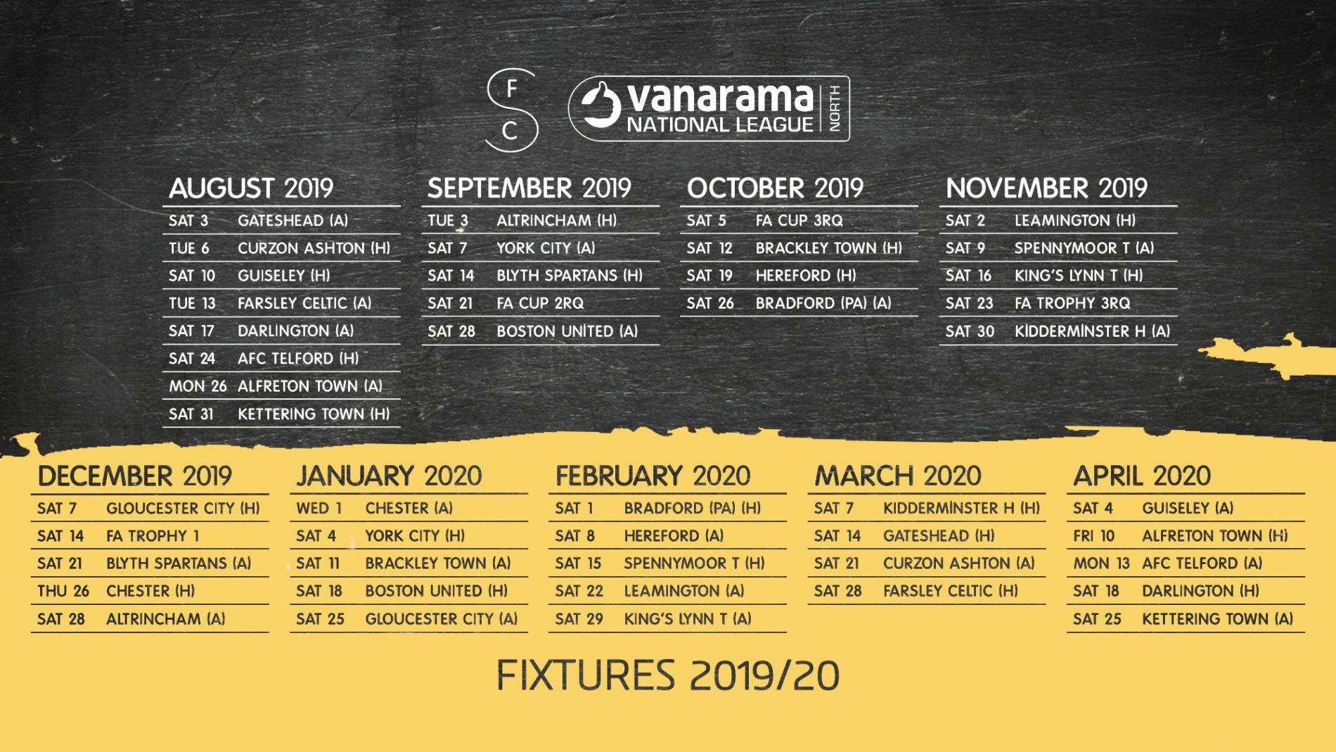 2019-20 | Fixtures Released!