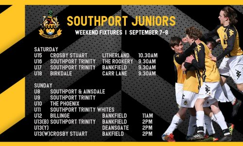 JUNIORS   Fixtures This Weekend