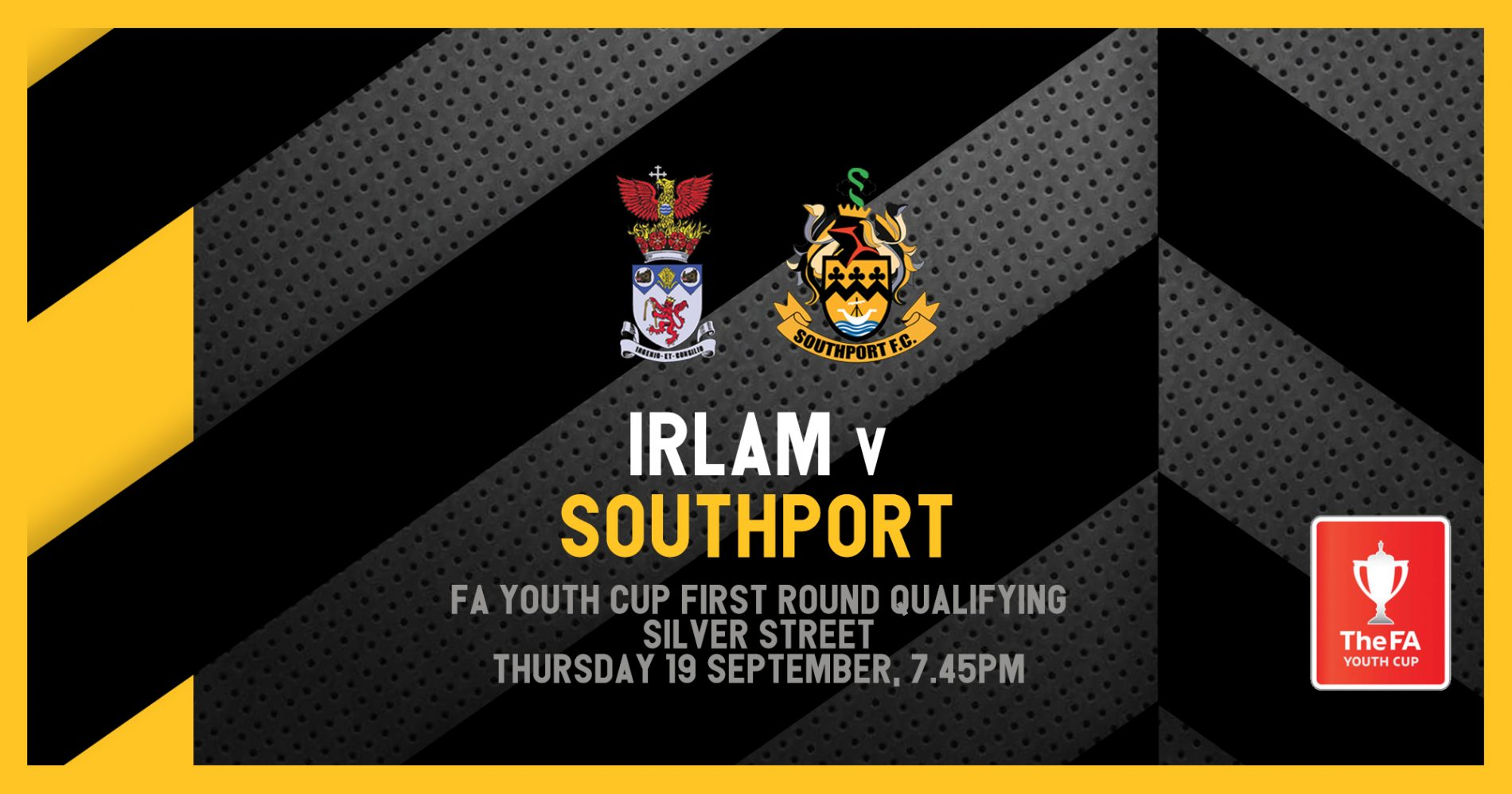 FIXTURE   FA Youth Cup vs Irlam