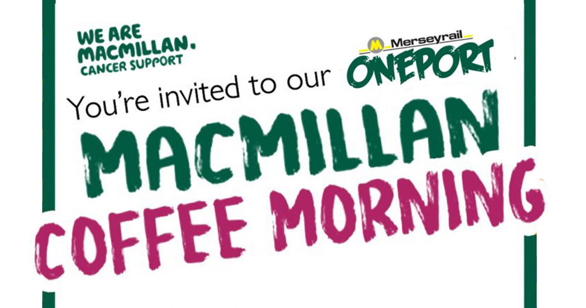 TODAY | Macmillan Coffee Morning