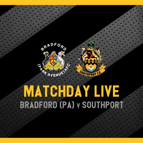 MATCHDAY LIVE   Bradford PA v Southport